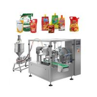 China Liquid Pouch Packaging Machine For Fruit Juice Seasoning Sauce Shampoo on sale