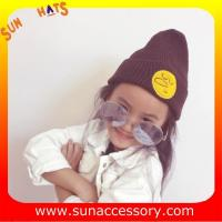 Best AK170191 Sun Accessory fashion cheap winter knitted baby beanie hats for kids,MOQ only 3 pcs wholesale