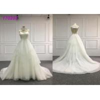 China Glamorous Country Organza A Line Ball Gown Wedding Dress For Big Girls Plus Size on sale