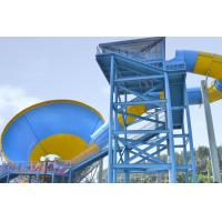 Best Outdoor Adult Water Slide Games , Fiber Glass Steel Pipe Tornado Water Slides wholesale