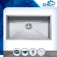 Best Stocked in US Low MOQ R0/R10 Handmade stainless steel kitchen sink wholesale