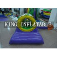 Best Commercial 0.9mm PVC 3m D Inflatable Water Toys / Obstacle With Mattress for kids wholesale