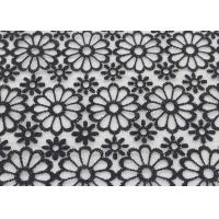 Buy cheap Embroidered Dying Lace Fabric Floral Lace Organza Polyester Fabric For Dresses from wholesalers
