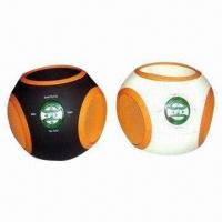 Best Portable Speakers, Ball-shaped with 3.5mm Audio Cable, Made of ABS, Folding Shield Design Available wholesale