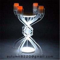 CH (23) votive glass candle holder with acrylic stand