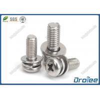 Best Stainless Phillips Philips Pan Head SEMS Screws with Flat & Spring Lockwasher wholesale