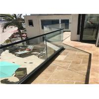 China Commercial Frameless Glass Railing System With Powder Coated Aluminum U Channel on sale