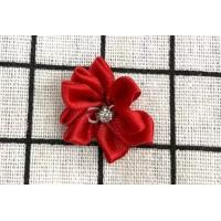 China Red Handmade Flower Ribbon For Clothing Accessories / Home Textile on sale