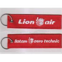 Lion Air Batam Aero Technic Embroidery Keychain Custom Logo Key Chain