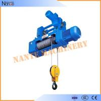 China High Speed Monorail 220V - 440V Electric Wire Rope Hoist with Trolley on sale