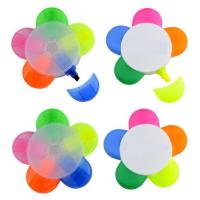 Best flower shape highlighter good cheap unique promotional gift items 5 colors highlighter wholesale