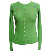 Best girls cardigan womens knitted sweaters With Buttons , Handmade Embroiery wholesale