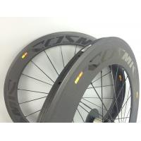 Best 60 + 88mm Carbon Road Cycling Wheels 700C 23mm Width Clincher Tubular  With Basalt wholesale