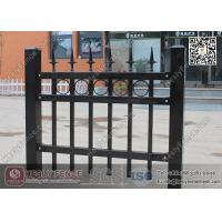 Cheap 1.8m X 2.1m Ornamental Welded Metal Fence Panels with Black Color PVC coated for sale