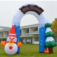 Cheap Customized Beautiful Nice Holiday Party Decoration Inflatable Christmas Arch for for sale