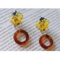 Best Iceland Halo Yellow Cute Earstud Accessories Ring Shape New Design Earrings For Girl wholesale