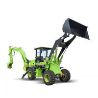 China 2.5 Ton Towable Backhoe Loader With Air - Over - Oil Assist Caliper Braking System on sale