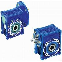 Mechanical NMRV Worm Transmission Reverse Gearbox With Motor , Solid Shaft