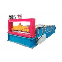Best PPGI Color Steel Roll Forming Machine , Corrugated Roof Sheet Machine With Smooth Feed Plate wholesale