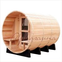Buy cheap Outdoor 7foot by 7 foot for 3-4 Person Red Cedar Barrel Sauna Room With Harvia Elecrical sauna heater product