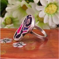 Best lastest design custom ethnic jewelry embroidery hmong rings with adjustable size wholesale