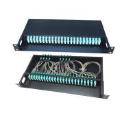China FTTH 12 / 48 / 96 Core Fiber Optic Cable Termination Patch Panel Compact Structure on sale