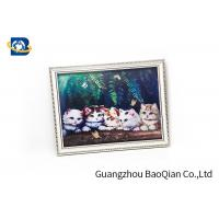 Best House Wall Printing 3D Lenticular Pictures Cute Cat / Panda Animal Flip Image wholesale
