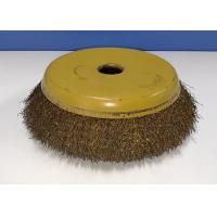 Best Brass Coated Crimped Wire Cup Brush High Tensile 200MM OD For Removal Rust wholesale