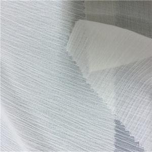 China CRINKLE CHIFFON White Polyester Fabric , Washable 100 Percent Polyester Fabric on sale