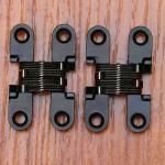 Best Kitchen Fittings Hardware Zinc Alloy Hidden Hinge Invisible Folding Door Concealed Cross Hidden Hinges wholesale