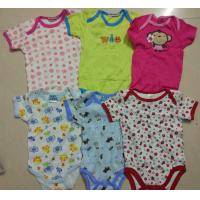 Best kids mixed in stock assorted short sleeve baby boxer boy girl cotton summer onesie Singapore cheap rompers wholesale