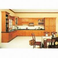 China Solid Wood Kitchen Cabinet with Raised Center Panel on sale