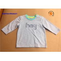 Fashion Custom Toddler T Shirts , Hey Graphic Print Baby Boy Long Sleeve Tops