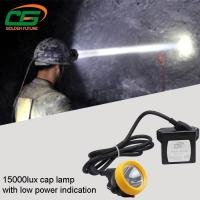 Best Safety 1w Led Mining Cap Lamp Rechargeable 15000lux High Brightness wholesale