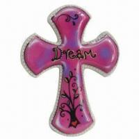 Best Glazed Finish Pink Ceramic Cross, Printing Paper w/ Word Dream Design, Customized Patterns Accepted wholesale