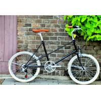 China Caliper brake black hi-ten steel  mini small 20 size old style city bike for lady with Shimano 6 speedmade in China on sale