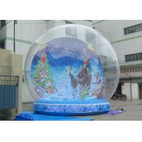 Best Holiday Backdrop Inflatable Snow Globe Durable PVC For Promotion Event wholesale