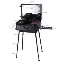 Best ABS panel aluminum makeup case with handle lights and mirror in reasonable price good quality wholesale