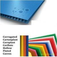 Best Decorative Anti - UV Plastic PP Hollow Board Coroplast Sheets 4mm / 5mm / 6mm wholesale