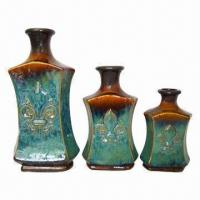 Best Decorative Flower Vases, Made of Ceramic, with FDL in Glazed Finish wholesale