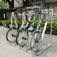 Buy cheap Semi Vertical Bike Rack and Bike Storage hot-galvanized OEM supplier product