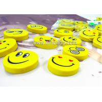 Best PVC cartoon cute mini round emoticons eraser for promotional gifts wholesale