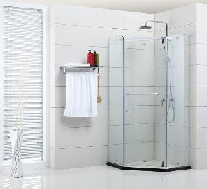 Best Semi-Frameless Hinge Pentagon Shower Door (XIX-001) wholesale
