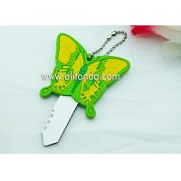 Best PVC butterfly cartoon figures shape cute key cover custom and supply wholesale