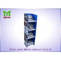 Customized Pop Up Cardboard Floor Display Stands Environment Friendly