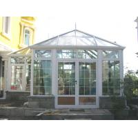 Cheap White powder coating surface treatment glass sun rooms with insulated roofs for sale