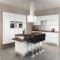 Best Modern Solid Wood White Kitchen Cabinets MDF Board With Single Sink / Faucet wholesale