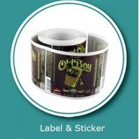 China Beverage label sticker customized printing and vinyl sticker printings on sale