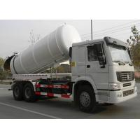 Best High Efficiency 17CBM LHD 336HP Vacuum Sewage Truck For Urban Rain Wells wholesale