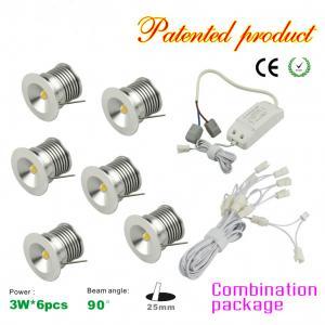 Best Mini 3W LED Spotlight 6pcs Dimming Power Supply+ Wire Kit 25mm hole LED light wholesale